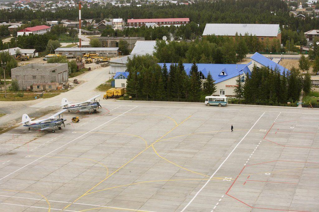 Стоянка воздушных судов аэропорта Берёзово