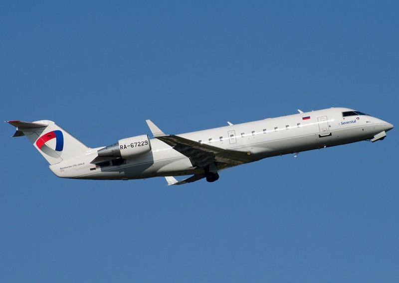 CRJ-200 авиакомпании Северсталь