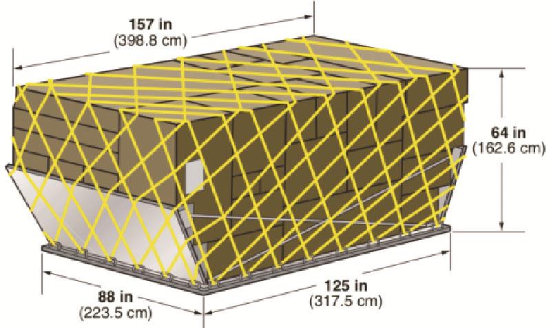 Авиаконтейнер LD-7 с загнутыми торцевыми панелями