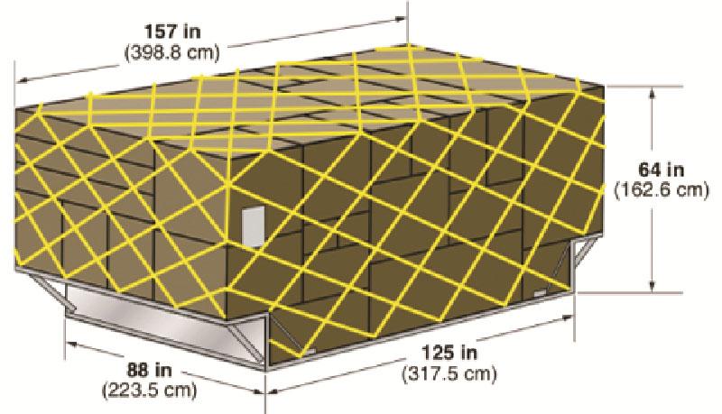 Авиаконтейнер LD-7 со створчатыми торцевыми панелями