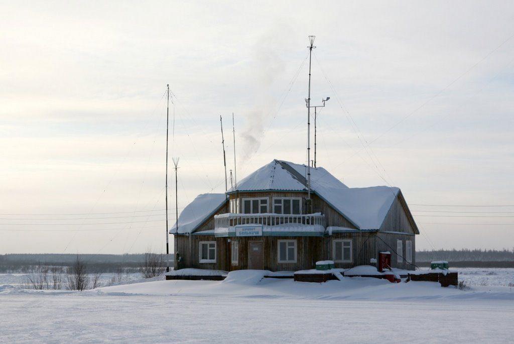 Аэропорт Белькачи зимой