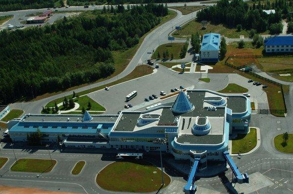 Аэропорт Ханты-Мансийск сверху