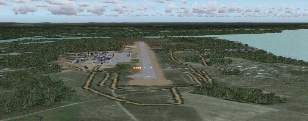 Взлетно-посадочная полоса аэропорта Игарка