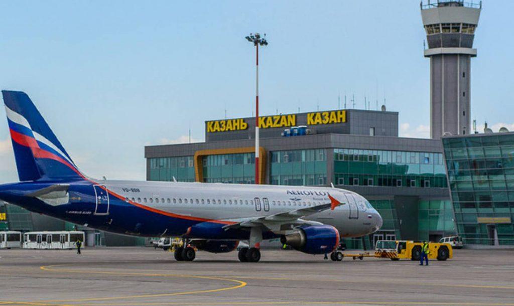Стоянка самолетов на аэродроме Казань