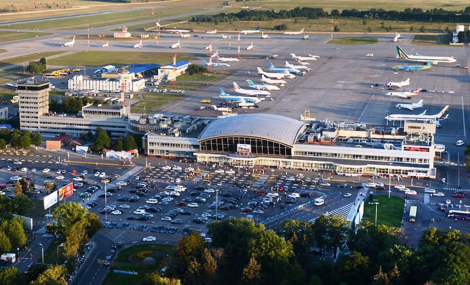 Вид сверху на аэропорт Борисполь