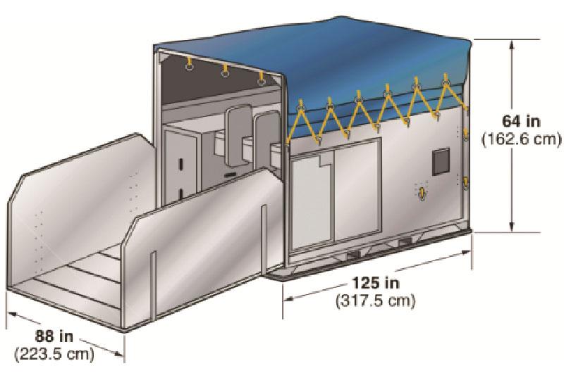 Авиаконтейнер HMA стойло