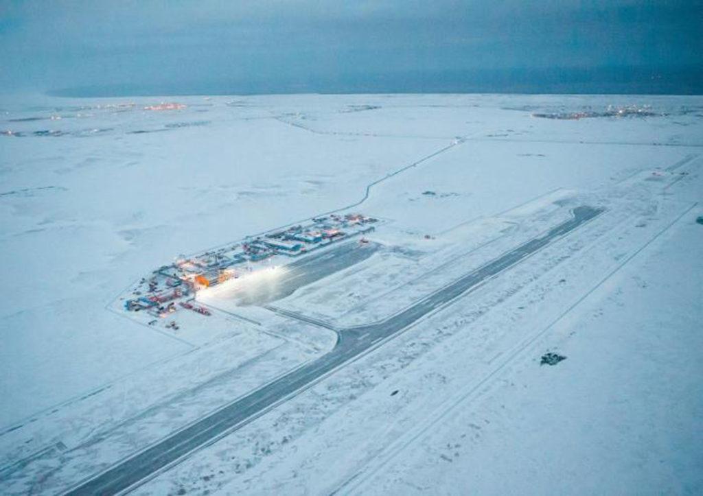 Взлетно-посадочная полоса аэродрома Сабетта