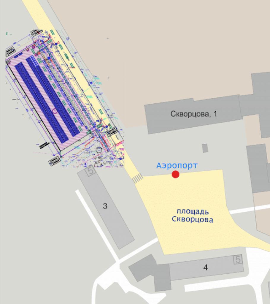 Схема парковок аэропорта Чебоксары