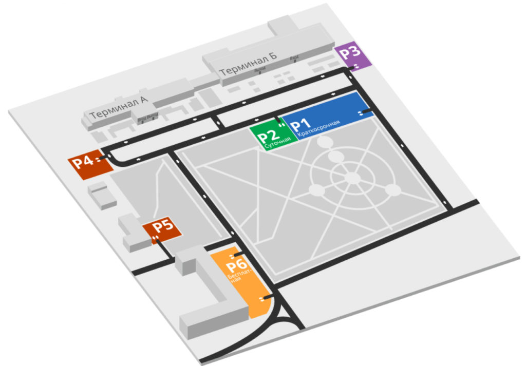 Аэропорт Чита. Схема парковок