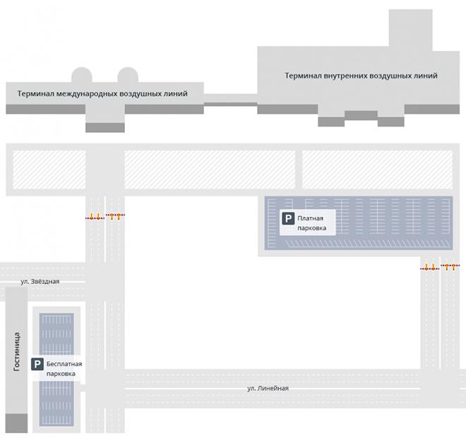 Схема терминалов аэропорта Чита