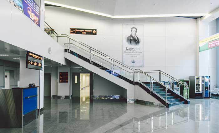 Аэропорт Ульяновск Баратаевка. Зал ожидания
