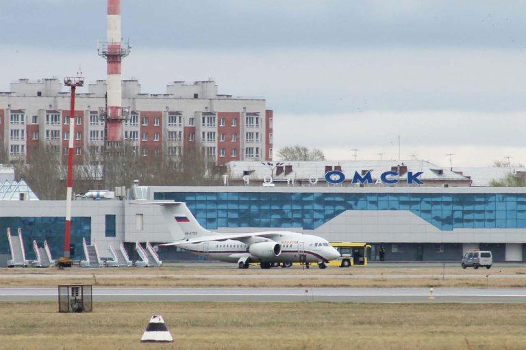 Аэропорт Омск. Стоянки самолетов