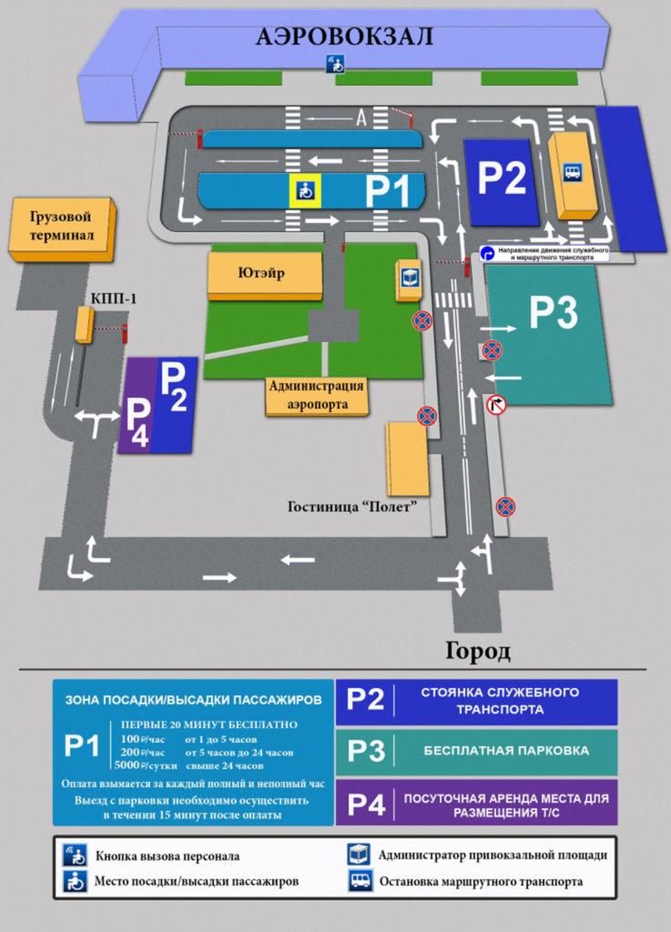 Парковки в аэропорту Сургут