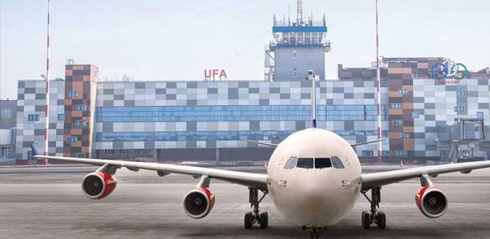 Аэропорт Уфа стоянка самолетов