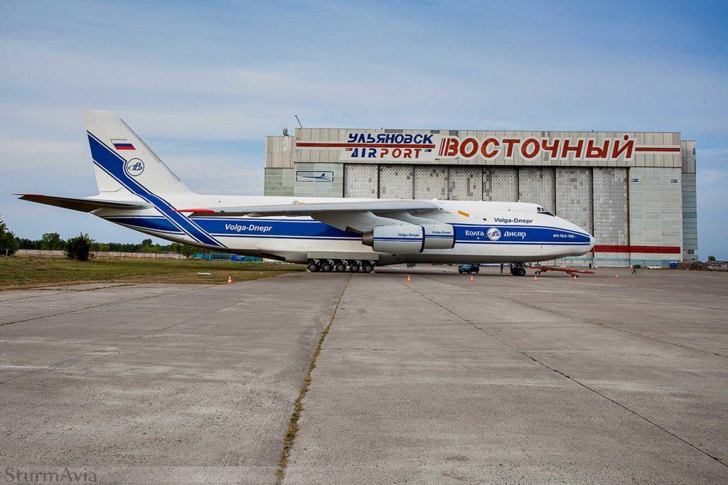 Ан-124 в аэропорту Ульяновск Восточный