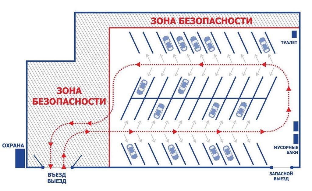 Схема платной парковки