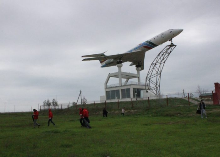 Памятник Ту-154