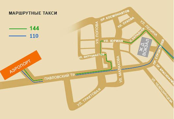 Аэропорт Барнаул: Схема маршрутов общественного транспорта