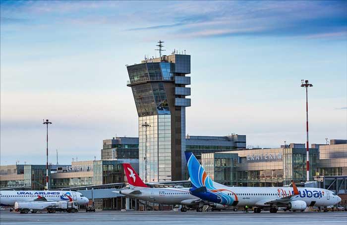 Аэропорт Кольцово. Стоянка самолетов