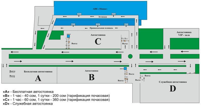 Аэропорт Манас парковка