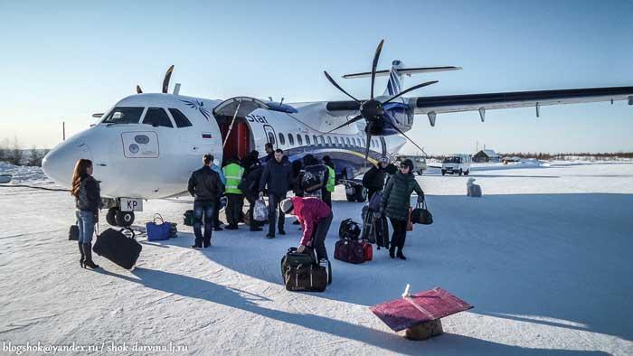 ATR-72 в аэропорту Тура