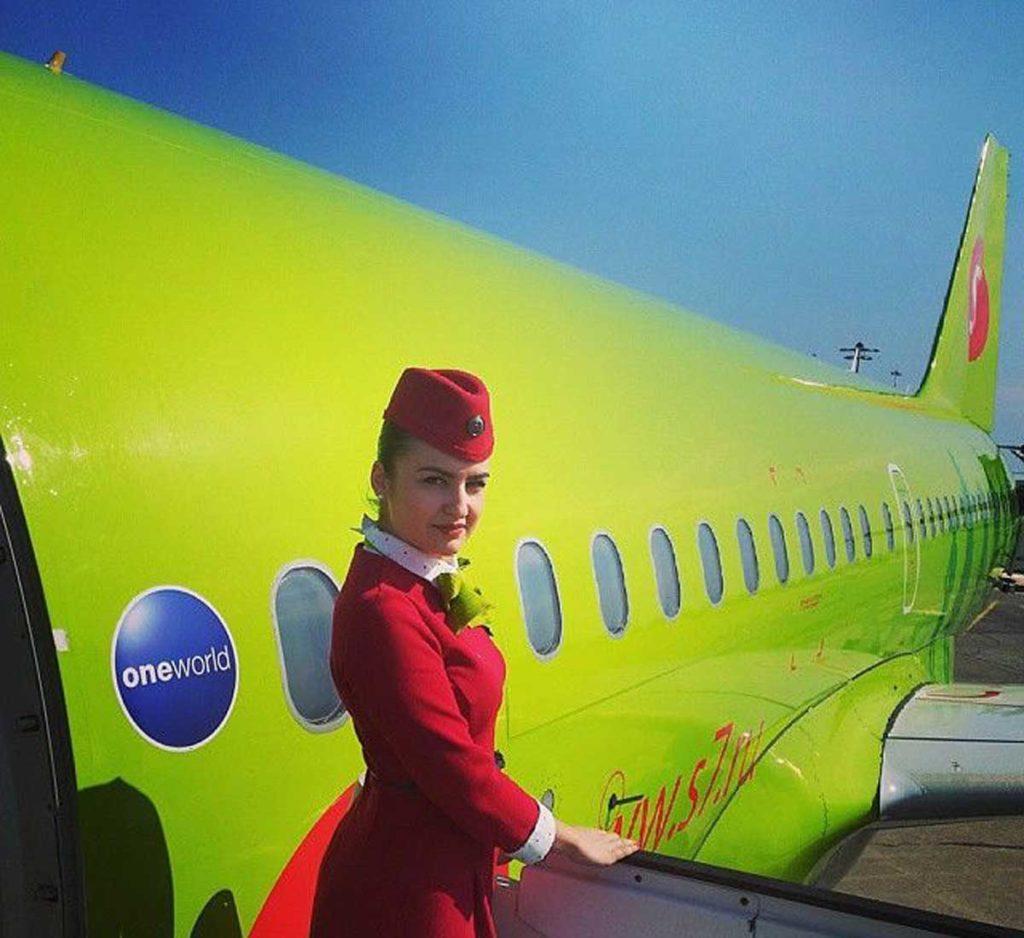 Стюардесса авиакомпании Сибирь S7 Airlines