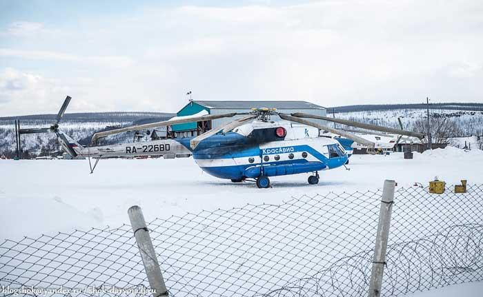 Ми-8 в аэропорту Тура МВЛ