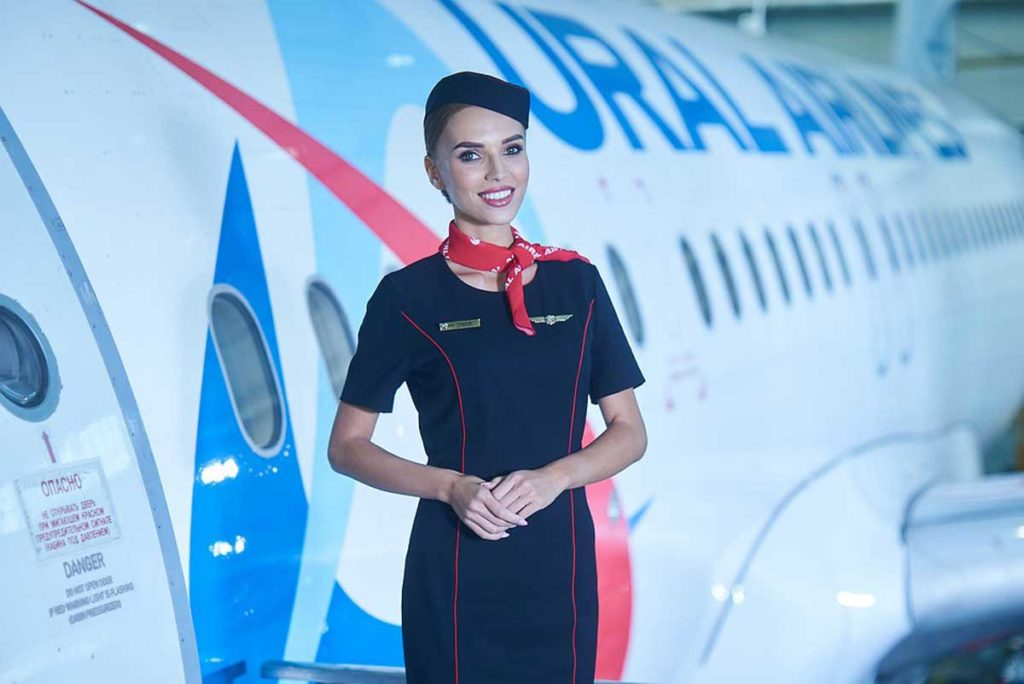 Стюардесса Уральских авиалиний