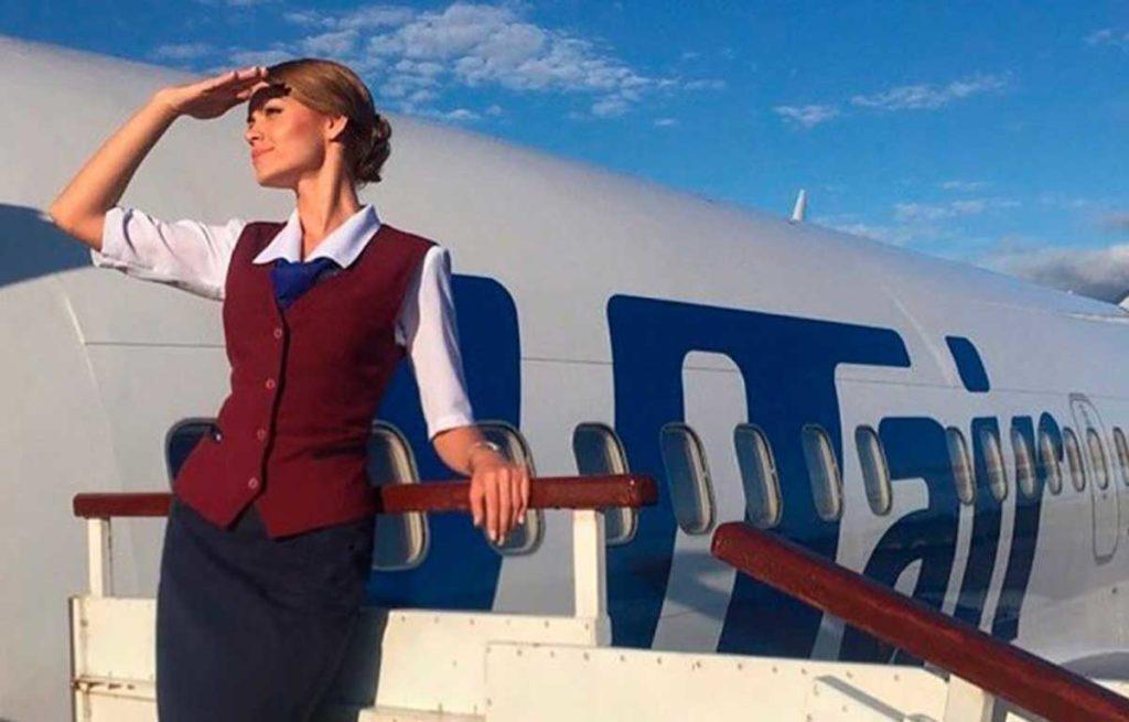 Стюардесса авиакомпании ЮТэйр