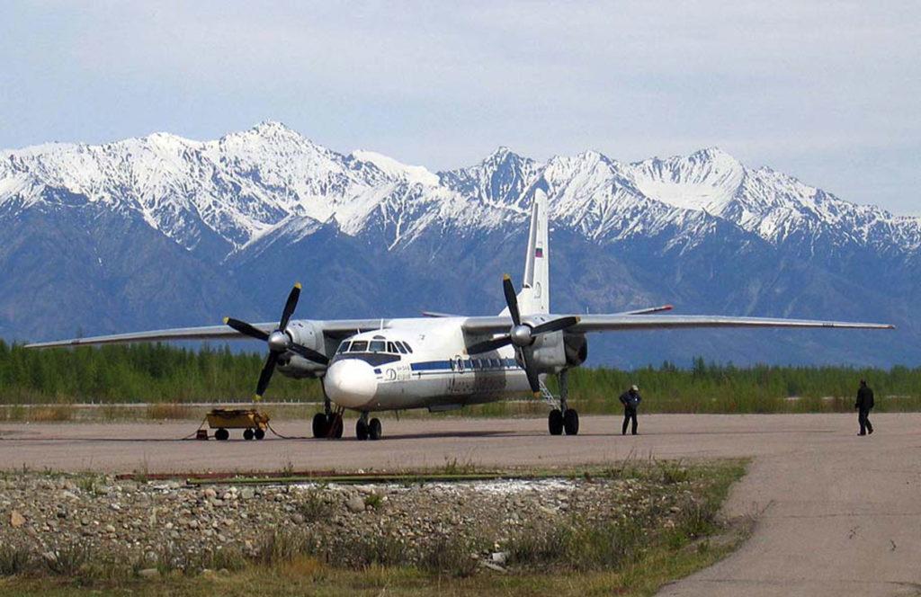 Ан-24 в аэропорту Чара