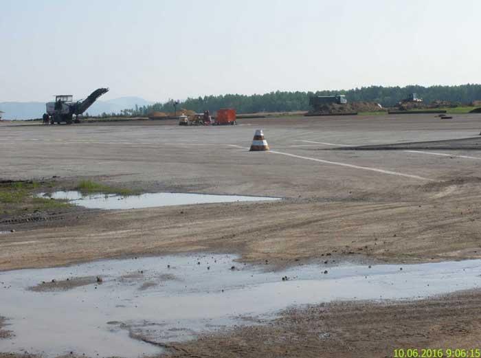 Аэропорт Зея реконструкция взлетно-посадочной полосы