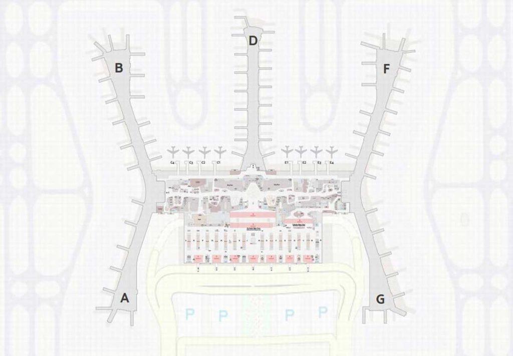 План терминала аэропорта